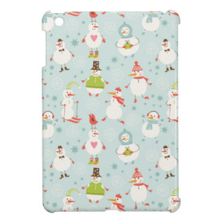 Cute Snowman Pattern Case For The iPad Mini
