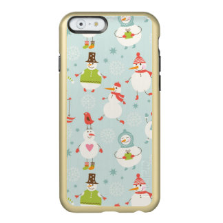 Cute Snowman Pattern Incipio Feather® Shine iPhone 6 Case