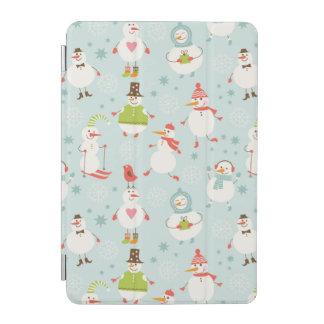 Cute Snowman Pattern iPad Mini Cover