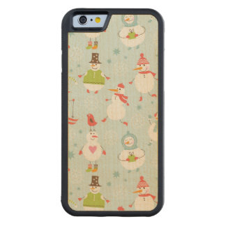 Cute Snowman Pattern Maple iPhone 6 Bumper