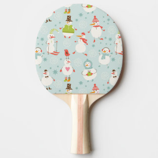 Cute Snowman Pattern Ping Pong Paddle