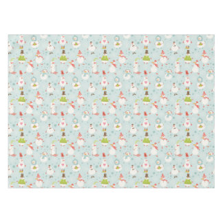 Cute Snowman Pattern Tablecloth
