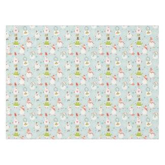 Cute Snowman Pattern Tablecloth