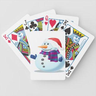 Cute Snowman Poker Deck