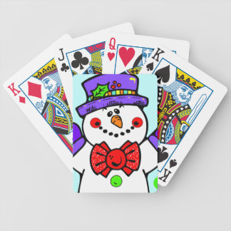 Cute Snowman Poker Deck