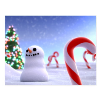 Cute Snowman Postcard