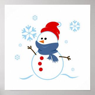 Cute Snowman Poster