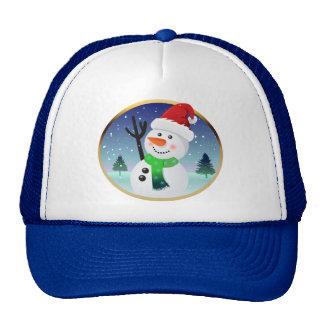 Cute Snowman Santa Xmas Cartoon Cap