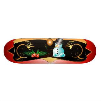 Cute snowman skateboard decks