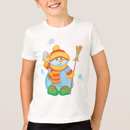 Cute Snowman T-Shirt Holiday Wear