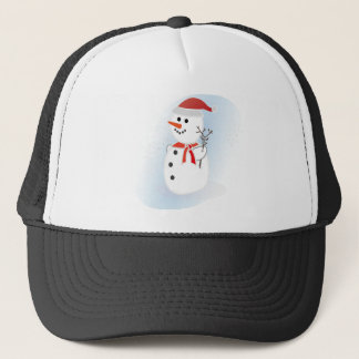 Cute Snowman Trucker Hat