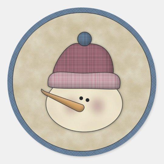 Cute Snowman Winter Holiday Sticker