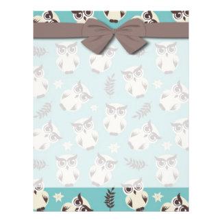 cute snowy white owls pattern 21.5 cm x 28 cm flyer