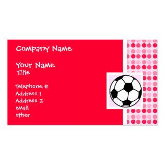 Cute Soccer Ball Business Card Templates