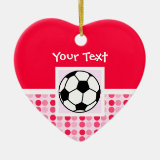 Cute Soccer Ball Christmas Ornament
