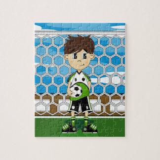 Cute Soccer Boy Jigsaw Puzzle