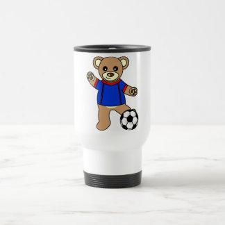 Cute Soccer Boy Teddy Bear Coffee Mugs