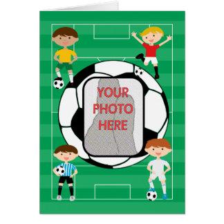 cute Soccer Boys greeting Card