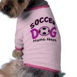 Cute Soccer Dog Customisable Dog Shirts