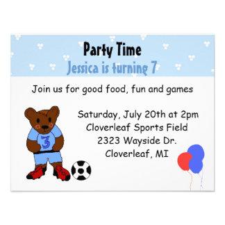 Cute Soccer Party Invitation