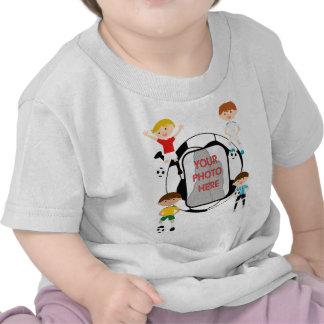 Cute Soccer stars Photo customizable Kids t-shirts