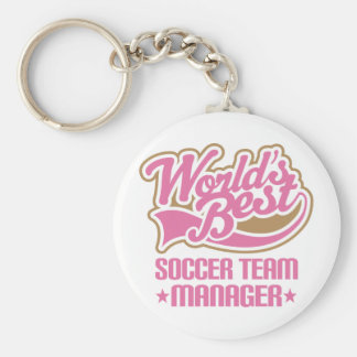 Cute Soccer Team Manager Gift Basic Round Button Key Ring