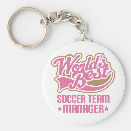 Cute Soccer Team Manager Gift Key Chains