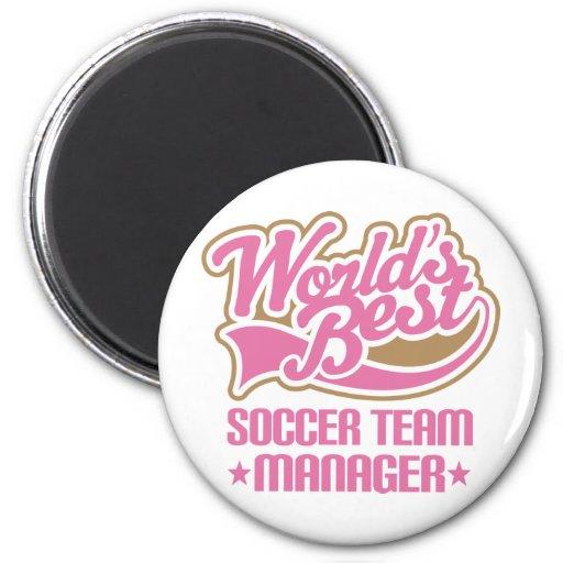 Cute Soccer Team Manager Gift Fridge Magnet