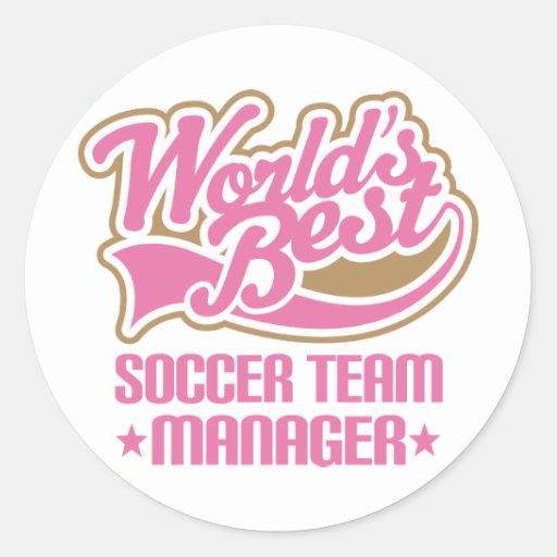 Cute Soccer Team Manager Gift Sticker