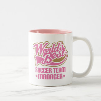 Cute Soccer Team Manager Gift Two-Tone Mug