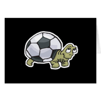 cute soccer turtle greeting card