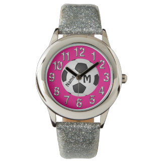 Cute Soccer Watches for Girls Your Colors and Text