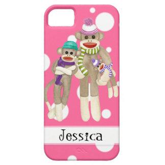 Cute Sock Monkey Girl Friends Whimsical Fun Art iPhone 5 Cases