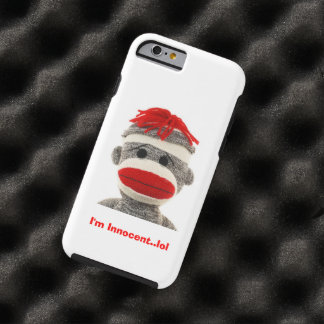CUTE Sock Monkey  I Phone 5 case Tough iPhone 6 Case