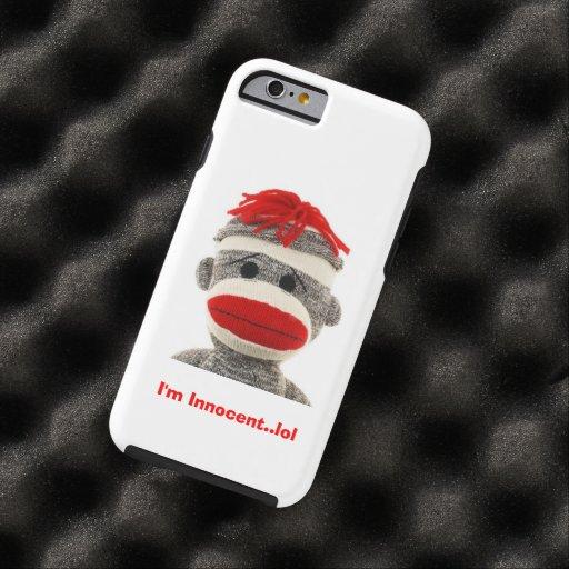 CUTE Sock Monkey  I Phone 5 case iPhone 6 Case