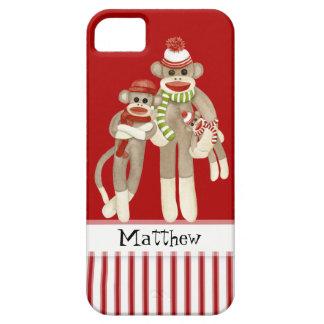 Cute Sock Monkeys, Monkey Friends Whimsical Fun iPhone 5 Case