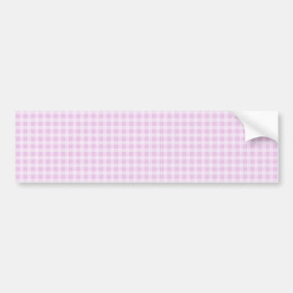 Cute Soft Rose Pink White Gingham Check Pattern Bumper Sticker