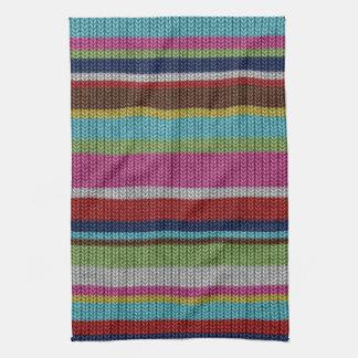 Cute soft trendy knitted wool effects warm winter kitchen towel