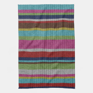 Cute soft trendy knitted wool effects warm winter tea towel