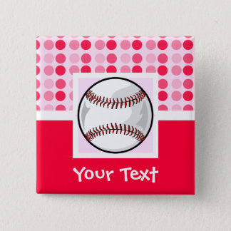 Cute Softball 15 Cm Square Badge