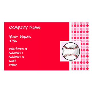 Cute Softball Double-Sided Standard Business Cards (Pack Of 100)
