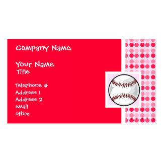 Cute Softball Business Card Template