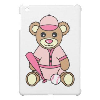 Cute Softball Girl Bear - Pink iPad Mini Cases