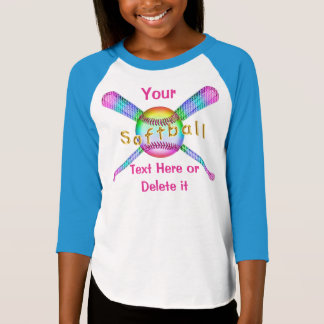 Cute Softball Shirts for Girls PERSONALIZED