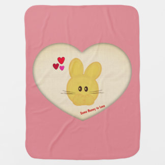 Cute Some Bunny to Love Heart Motif Baby Blanket