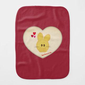Cute Some Bunny to Love Heart Motif Burp Cloth