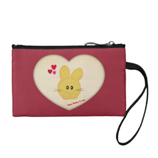 Cute Some Bunny to Love Heart Motif Coin Purse
