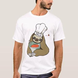 Cute Soup Chef Sloth Drawing Men's T-Shirt