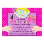 "Cute Spa Birthday Party 5"" X 7"" Invitation Card"