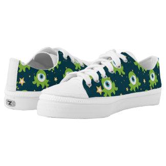Cute Space Alien Pattern Printed Shoes